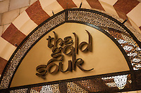 United Arab Emirates, Dubai: Dubai Mall, worlds largest shopping mall, Detail of the Gold Souk