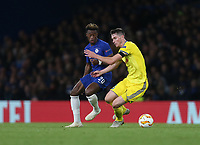 Chelsea's Callum Hudson-Odoi and BATE Borisov's Mikalay Signevich<br /> <br /> Photographer Rob Newell/CameraSport<br /> <br /> UEFA Europa League Group L - Chelsea v FC BATE Borisov - Thursday 25th October - Stamford Bridge - London<br />  <br /> World Copyright © 2018 CameraSport. All rights reserved. 43 Linden Ave. Countesthorpe. Leicester. England. LE8 5PG - Tel: +44 (0) 116 277 4147 - admin@camerasport.com - www.camerasport.com