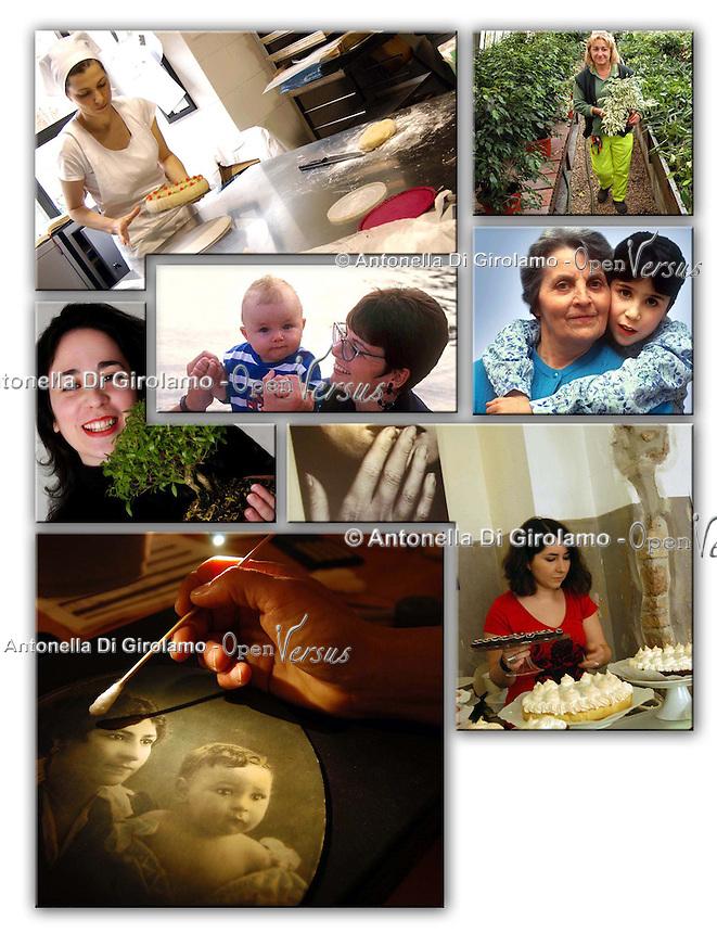 Donne  di diverse generazioni. Women of different generations.....