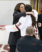 Patricia Doherty, Danielle Doherty (BC - 19) -  The Boston College Eagles defeated the visiting Boston University Terriers 5-0 on BC's senior night on Thursday, February 19, 2015, at Kelley Rink in Conte Forum in Chestnut Hill, Massachusetts.