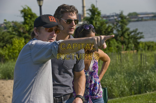 Scott Derrickson (Director), Eric Bana, Olivia Munn<br /> on the set of Deliver Us from Evil (2014) <br /> *Filmstill - Editorial Use Only*<br /> CAP/FB<br /> Image supplied by Capital Pictures