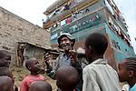 For HELP AGE (UK)<br /> <br />  2010 - Nairobi, Kenya - Paul Muthee, 74 years old, lives in Dandora Slum. Photo credit: Benedicte Desrus
