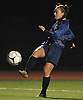Lily D'Addorio of Locust Valley tries to get a shot on goal during Game 2 of two Long Island varsity girls soccer senior all-star games at Farmingdale State College on Friday, Nov. 24, 2017.