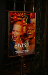 "Theatre Poster for the Broadway Production of  ""Sweat"" at studio 54 Theatre on March 26, 2017 in New York City"