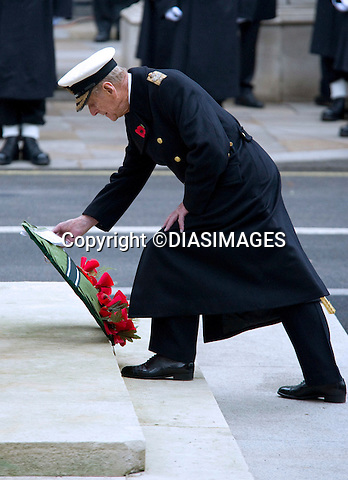 "PRINCE PHILIP-REMEMBRANCE SERVICE 2010.Prince Philip, Prince Charles, Prince Andrew Prince Edward and Princess Anne joined the Queen at the Cenotaph, London for the annual Service of Remembrance_14/11/2010.Mandatory Photo Credit: ©Dias/DIASIMAGES..**ALL FEES PAYABLE TO: ""NEWSPIX INTERNATIONAL""**..PHOTO CREDIT MANDATORY!!: DIASIMAGES(Failure to credit will incur a surcharge of 100% of reproduction fees)..IMMEDIATE CONFIRMATION OF USAGE REQUIRED:.DiasImages, 31a Chinnery Hill, Bishop's Stortford, ENGLAND CM23 3PS.Tel:+441279 324672  ; Fax: +441279656877.Mobile:  0777568 1153.e-mail: info@diasimages.com"