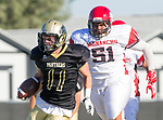 Palos Verdes, CA 10/27/17 - Jacob Hangartner (Peninsula #11)in action during the Morningside Monarchs - Palos Verdes Peninsula Varsity football game at Peninsula High School.