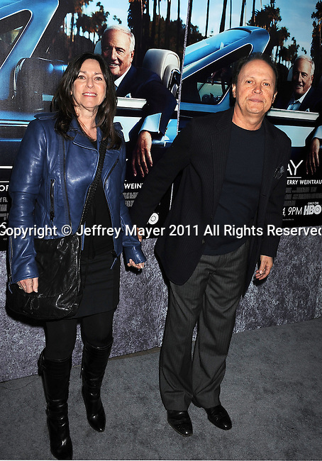 "HOLLYWOOD, CA - MARCH 22: Janice Crystal and Billy Crystal attend HBO's ""His Way"" Los Angeles Premiere at Paramount Theater on the Paramount Studios lot on March 22, 2011 in Hollywood, California."