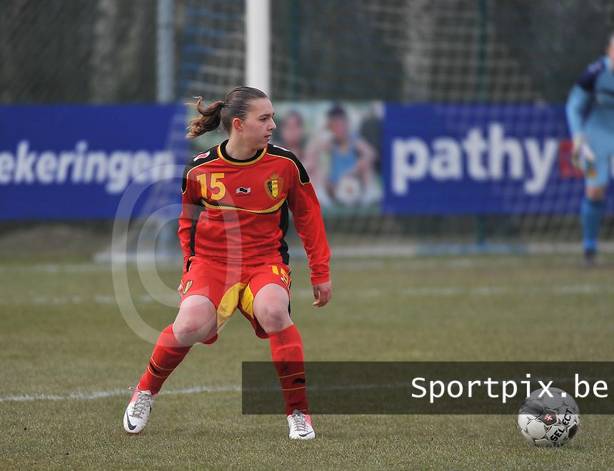 Belgie U17 - Duitsland U17 : Jody Vangheluwe.foto DAVID CATRY / Vrouwenteam.be