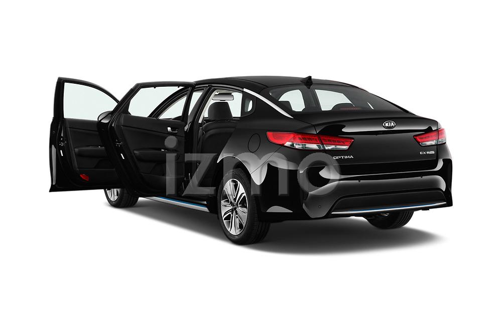 Car images close up view of a 2019 KIA Optima Plug-In Hybrid EX 4 Door Sedan doors