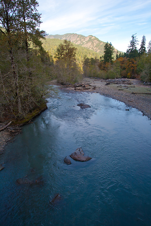 Elwha River, Upper Elwha Dam removal, river now runs free to Strait of Juan de Fuca, Olympic National Park, Olympic Peninsula, Washington State, Pacific Northwest, United States, North America, Elwha River Restoration, Salmon habitat restoration,