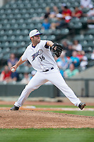 Winston-Salem Dash relief pitcher Tyler Barnette (36) in action against the Myrtle Beach Pelicans at BB&T Ballpark on April 18, 2015 in Winston-Salem, North Carolina.  The Pelicans defeated the Dash 4-1 in game one of a double-header.  (Brian Westerholt/Four Seam Images)