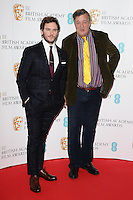 Sam Claflin and Stephen Fry at the announcement of nominations for the 2015 EE BAFTA Film Awards, BAFTA, London. 09/01/2015 Picture by: Steve Vas / Featureflash