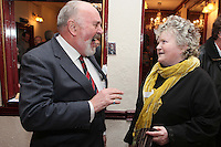 "NO REPRO FEE. 17/1/2010. The Field opening night. Senator David Norris and Brenda Fricker are pictured at the Olympia Theatre for the opening night of John B Keanes 'The Field"" Picture James Horan/Collins"