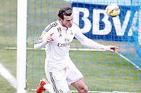 Real Madrid's Garet Bale celebrates goal during La Liga match.January 18,2013. (ALTERPHOTOS/Acero) /NortePhoto<br /> NortePhoto.com