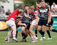 Eddie Battye in action for London during the Kingstone Press Championship game between London Broncos and Leigh Centurions at Ealing Trailfinders, Ealing, on Sun June 26,2016