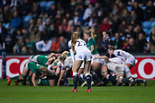 16th March 2018, Ricoh Arena, Coventry, England; Womens Six Nations Rugby, England Women versus Ireland Women; Zoe Harrison of England watches the scrum take shape