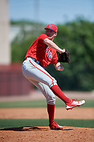 Philadelphia Phillies pitcher David Parkinson (10) during a Minor League Spring Training game against the Pittsburgh Pirates on March 23, 2018 at the Carpenter Complex in Clearwater, Florida.  (Mike Janes/Four Seam Images)