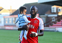Fleetwood Town&rsquo;s Toumani Diagouraga with daughter after the match<br /> <br /> Photographer Leila Coker/CameraSport<br /> <br /> The EFL Sky Bet League One - Fleetwood Town v Walsall - Saturday 5th May 2018 - Highbury Stadium - Fleetwood<br /> <br /> World Copyright &copy; 2018 CameraSport. All rights reserved. 43 Linden Ave. Countesthorpe. Leicester. England. LE8 5PG - Tel: +44 (0) 116 277 4147 - admin@camerasport.com - www.camerasport.com