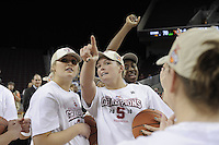March 14, 2010.  Jayne Appel after the Stanford Cardinal beat the UCLA Bruins to win the 2010 Pac-10 Tournament.