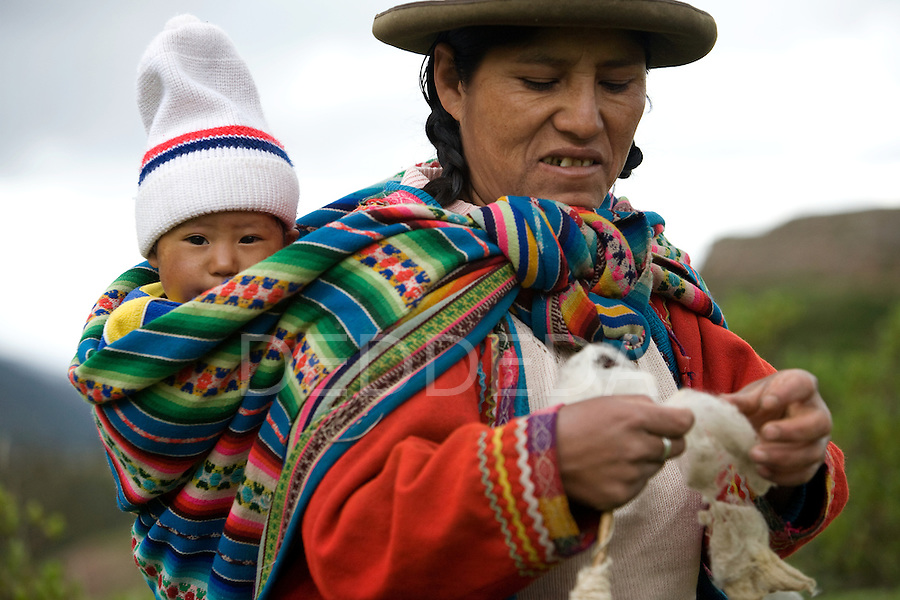 Mother Child Baby Wool Cuzco Peru Photography By Deddeda