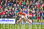 Brian McGuire Kerry in action against Aidan O'Shea Mayo in the National Football League in Austin Stack Park on Sunday..