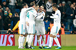 Real Madrid's Theo Hernandez, Cristiano Ronaldo, Sergio Ramos, Mateo Kovacic and Carlos Henrique Casemiro celebrate goal during Champions League Group H match 6. December 6,2017. (ALTERPHOTOS/Acero)