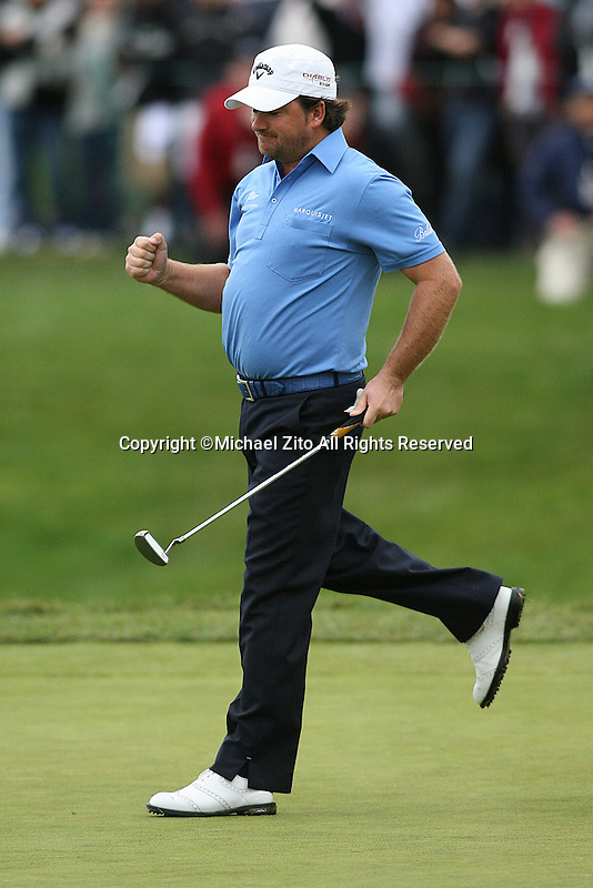 12/05/10 Thousand Oaks, CA:  Graeme McDowell during the final round of the Chevron World Challenge. Held at the Sherwood Country Club in Thousand Oaks, CA. Graeme McDowell defeated Tiger Woods in a 1 hole playoff.