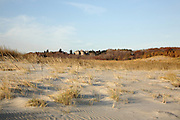 Crane Beach which is once part of the Crane Estate in Ipswich, Massachusetts USA , during the autumn months..Notes: Crane Beach is among the world's most important nesting sites for the threatened piping plover. Crane Estate was the 20th-century summer estate of Chicago industrialist Richard T. Crane