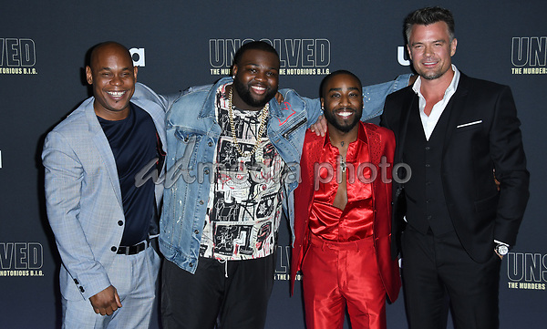 "22 February 2018 - Hollywood, California - Bokeem Woodbine, Wavyy Jonez, Marcc Rose, Josh Duhamel. USA Network's ""Unsolved: The Murders of Tupac & The Notorious B.I.G."" held at Avalon Hollywood. Photo Credit: Birdie Thompson/AdMedia"