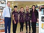 Staff of O'Flynn's Pharmacy Gareth O'Callaghan, Joan McCoy, Emma Balfe, Jessica Hoey and Melissa Boylan pictured during the Ardee Bonanza weekend. Photo:Colin Bell/pressphotos.ie