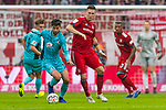 03.11.2018, Allianz Arena, Muenchen, GER, 1.FBL,  FC Bayern Muenchen vs. SC Freiburg, DFL regulations prohibit any use of photographs as image sequences and/or quasi-video, im Bild Tim Kleindienst (Freiburg #34) mit Niklas Suele (FCB #4) <br /> <br />  Foto &copy; nordphoto / Straubmeier