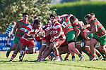 Viliame Setitaia makes a run off the back of a scrumm. Counties Manukau Premier Club Rugby game bewtween Waiuk & Karaka played at Waiuku on Saturday April 11th, 2010..Karaka won the game 24 - 22 after leading 21 - 9 at halftime.