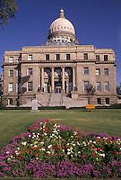 AJ3595, Boise, State Capitol, State House, Idaho, The rear of the State Capitol building in the capital city of Boise in the state of Idaho.