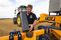 Calibrating a turbo jet whilst drilling oilseed rape<br /> &copy;Tim Scrivener Photographer 07850 303986<br />      ....Covering Agriculture In The UK....