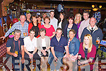 John William O'Sullivan, Knockeragh, Killarney seated centre who celebrated his 30th birthday with his family and friends in the Killarney Avenue Hotel on Saturday night