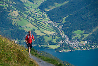 Zell am See, Salzburgerland, Austria, September 2008. The hike over the saddle from Sonnkogel to Schmittenhohe gives us panoramic views in all directions.  From the lakeside town of Zell am See we hike in the surrounding mountains.  Photo by Frits Meyst/Adventure4ever.com