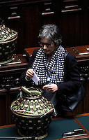 La senatrice del Partito Democratico Anna Finocchiaro vota durante la sesta seduta comune di senatori e deputati per l'elezione del nuovo Capo dello Stato, alla Camera dei Deputati, Roma, 20 aprile 2013..Italian Democratic Party's senator Anna Finocchiaro votes during the sixth common plenary session of senators and deputies to elect the new Head of State, at the Lower Chamber in Rome, 20 April 2013..UPDATE IMAGES PRESS/Isabella Bonotto