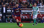 30.12.2015 Barcelona. La Liga , day 17. Picture show Leo Messi in action during game between FC Barcelona against Betis at Camp Nou