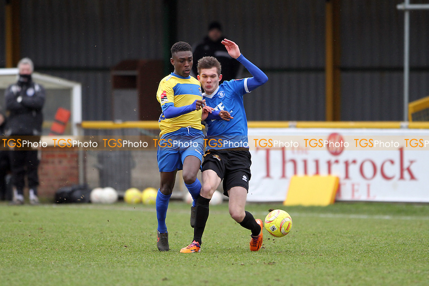 Ade Cole of Romford runs with the ball during Romford vs Bury Town, Ryman League Divison 1 North Football at Ship Lane, Thurrock, England on 13/02/2016