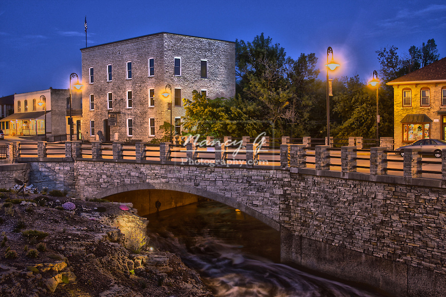 Main Street Bridge in Menomonee Falls Wisconsin HDR
