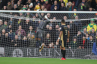 Jordan Archer of Millwall tips the ball over the bar during Norwich City vs Millwall, Sky Bet EFL Championship Football at Carrow Road on 1st January 2018
