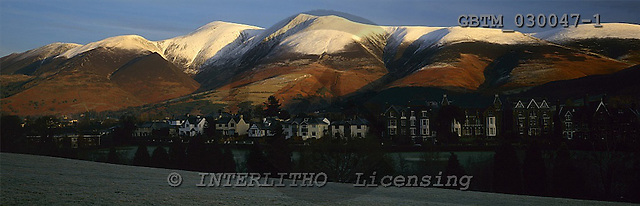 Tom Mackie, LANDSCAPES, panoramic, photos, Snow-covered Skiddaw, Keswick, Lake District National Park, Cumbria, England, GBTM030047-1,#L#