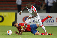 MEDELLÍN- COLOMBIA, 2-09-2018.Germán Cano (Izq,) jugador del Independiente Medellín disputa el balón con Geisson Perea (Izq.) jugador del Once Caldas durante partido por la fecha 7 de la Liga Águila II 2018 jugado en el estadio Atanasio Girardot de la ciudad de Medellín. /German Cano (L) player of Independiente Medellin fights for the ball with Geisson Perea  (R) player of Once Caldas  during the match for the date 7 of the Liga Aguila II 2018 played at Atanasio Girardot Stadium in Medellin  city. Photo: VizzorImage / Leon Monsalve/ Contribuidor