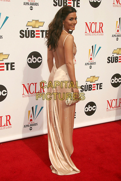 MARISOL NICHOLS.2007 NCLR ALMA Awards at the Pasadena Civic Center,.Pasadena, California, USA,.1st June 2007..full length long cream dress silk satin back behind over shoulder.CAP/ADM/BP.©Byron Purvis/AdMedia/Capital Pictures.