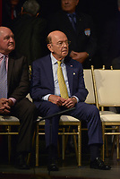 MIAMI, FL - JUNE 16: Secretary of Agriculture Sonny Perdue (L) and Secretary of Commerce Wilbur Ross wait for U.S. President Donald Trump to speak about policy changes he is making toward Cuba at the Manuel Artime Theater in the Little Havana neighborhood on June 16, 2017 in Miami, Florida. The President will re-institute some of the restrictions on travel to Cuba and U.S. business dealings with entities tied to the Cuban military and intelligence services.   Credit: MPI10 / MediaPunch