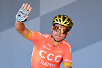 Olympic Champion Gerg Van Avermaet (BEL) CCC Team at sign on before Stage 5 of the 2019 Tour de France running 175.5km from Saint-Die-des-Vosges to Colmar, France. 10th July 2019.<br /> Picture: ASO/Alex Broadway | Cyclefile<br /> All photos usage must carry mandatory copyright credit (© Cyclefile | ASO/Alex Broadway)