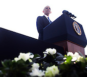 United States President Barack Obama makes remarks during a ceremony at the Pentagon to mark the 13th anniversary of the September 11th, 2001 terrorist attacks, in Washington, Thursday, September 11, 2014.<br /> Credit: Martin Simon / Pool via CNP