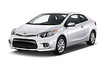 2016 KIA Forte-Koup EX 2 Door Coupe Angular Front stock photos of front three quarter view