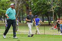 Shane Lowry (IRL) and Thorbjorn Olesen (DEN) head down 7 during round 3 of the World Golf Championships, Mexico, Club De Golf Chapultepec, Mexico City, Mexico. 2/23/2019.<br /> Picture: Golffile | Ken Murray<br /> <br /> <br /> All photo usage must carry mandatory copyright credit (© Golffile | Ken Murray)