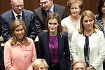 Health Minister Ana Mato, left, and Queen Letizia of Spain, centre, attends to XXV Anniversary of the Spanish National Transplant Organisation at Healing Ministry in Madrid. October 22, 2014. (ALTERPHOTOS/Caro Marin)